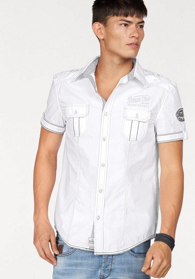 Bruno Banani Kurzarmhemd in weiß