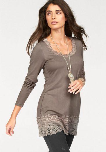Boysen's Longshirt, mit elastischer Spitze am Ausschnitt und Saum