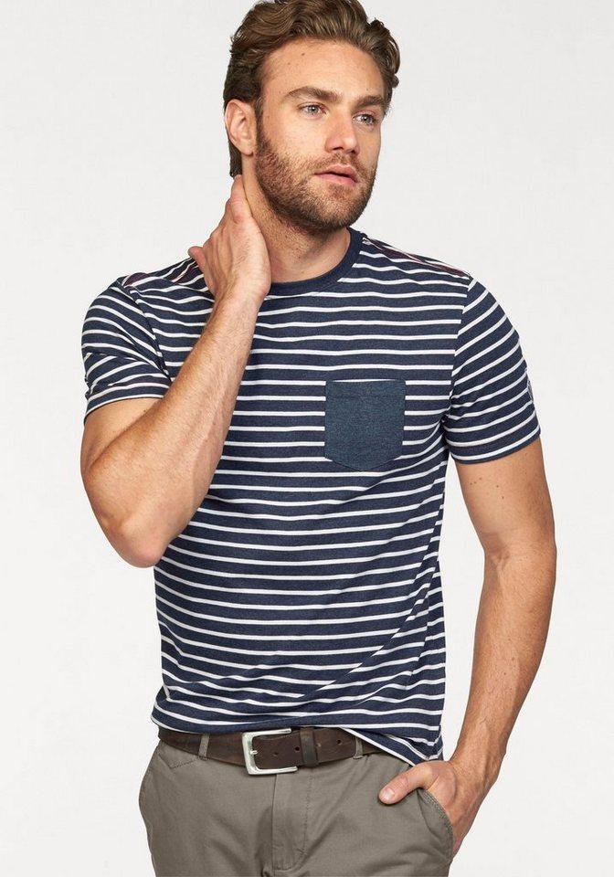 Rhode Island T-Shirt in blau-weiß-gestreift