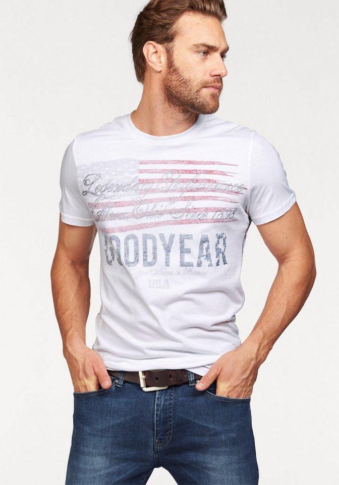 Goodyear T-Shirt in weiß