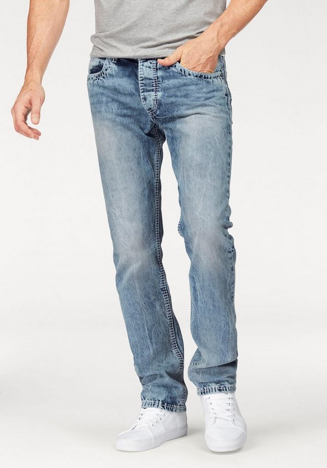 Bruno Banani Straight-Jeans »Carlos« in light-blue-used