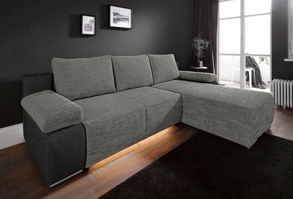 raum id polsterecke mit bettfunktion wahlweise mit beleuchtung online kaufen otto. Black Bedroom Furniture Sets. Home Design Ideas