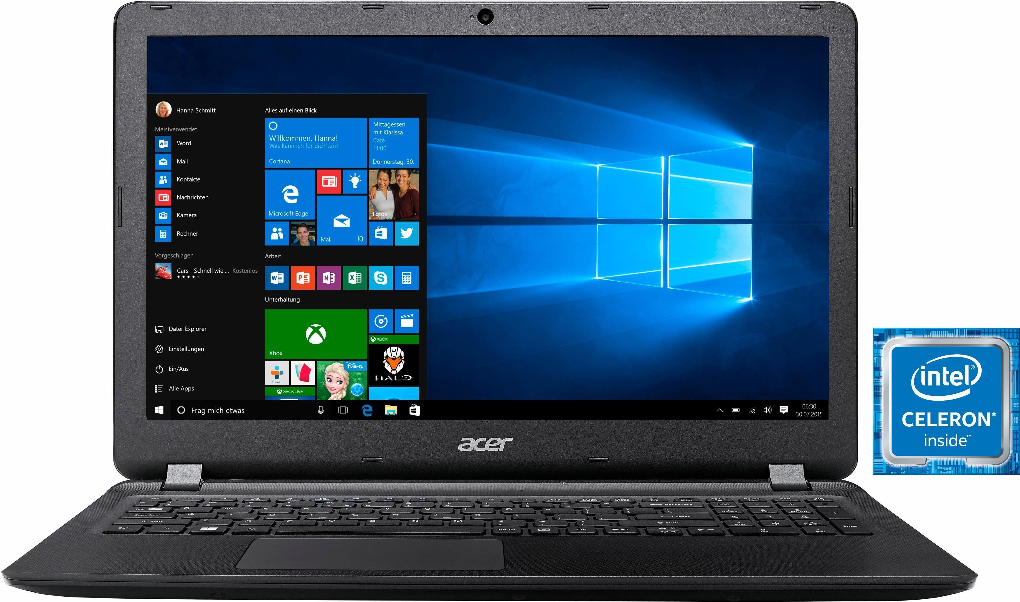 Acer Aspire ES 15 (ES1-533-C19X) Notebook, Intel® Celeron™, 39,6 cm (15,6 Zoll), 500 GB Speicher