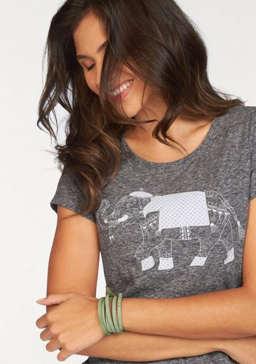 Ajc T-shirt, With Elephant-print And Embroidery Front
