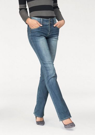 Arizona Bootcut-Jeans Shaping, Mid Waist