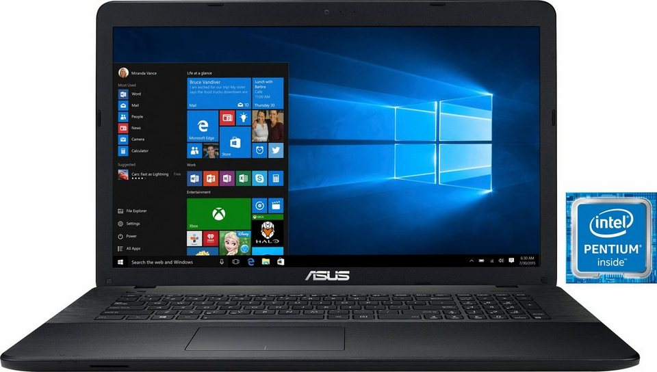 Asus F751SA-TY1 Notebook, Intel® Pentium™, 43,9 cm (17,3 Zoll), 500 GB Speicher, 8192 MB DDR3L in schwarz