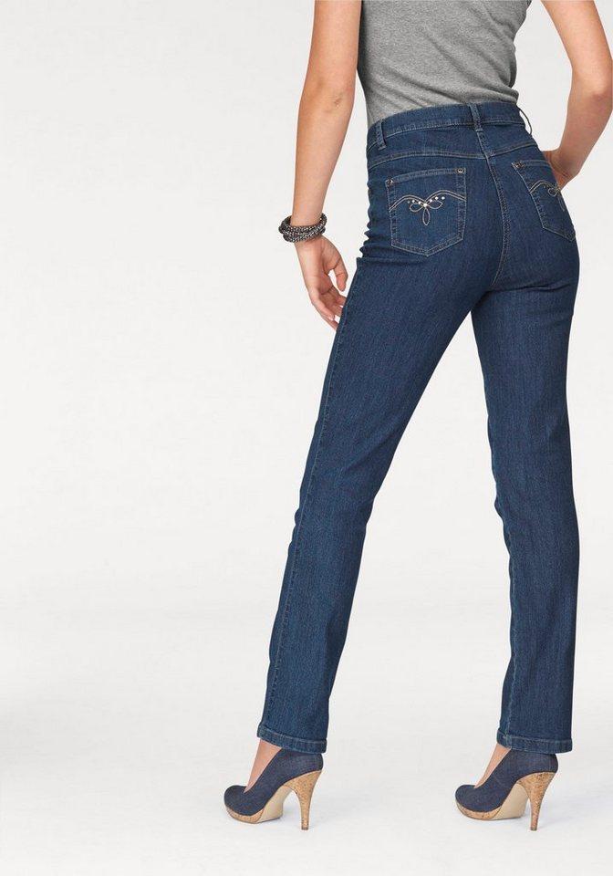 "Arizona Gerade Jeans Comfort-Fit "" High Waist"" in blue-stone"