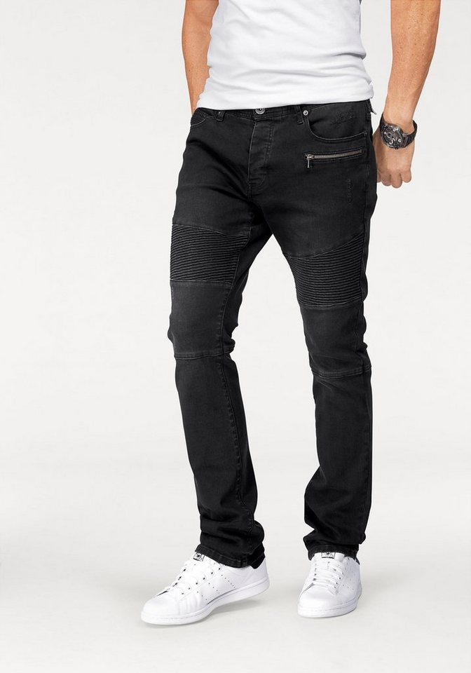Bruno Banani Slim-fit-Jeans »(Stretch)« in black-washed