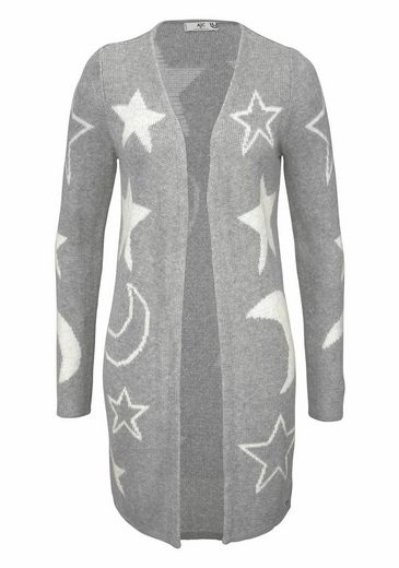Ajc Long Sweater In Jacquard With Stars And Moon