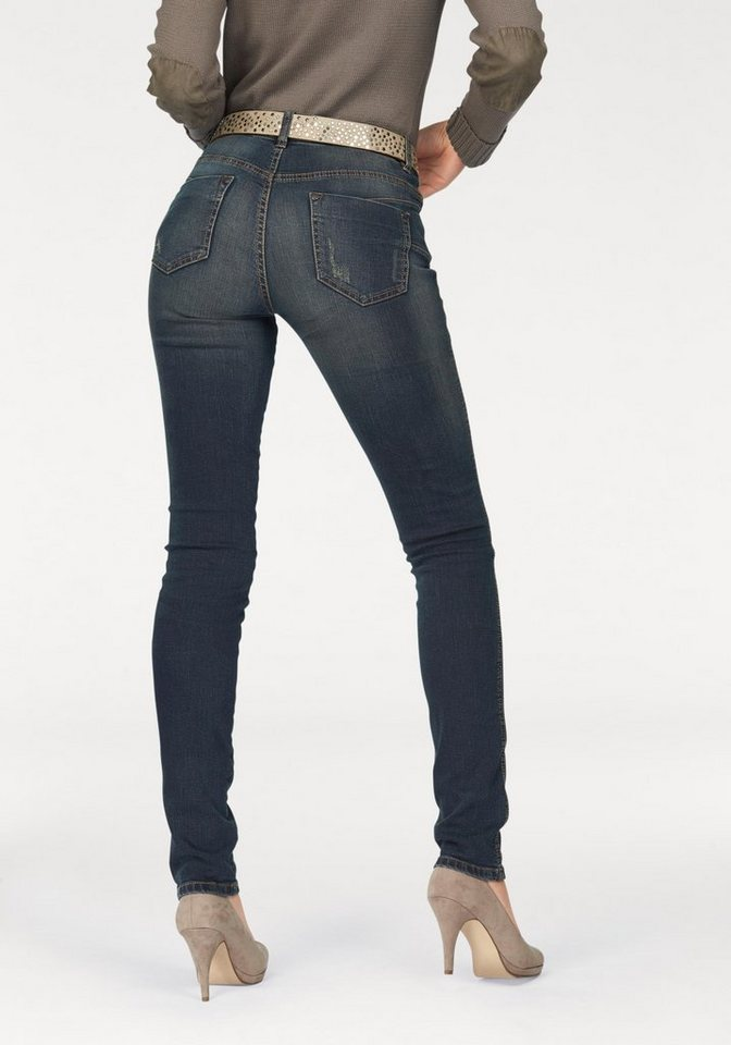 Arizona Skinny-fit-Jeans »Shaping« High Waist in dirty-blue