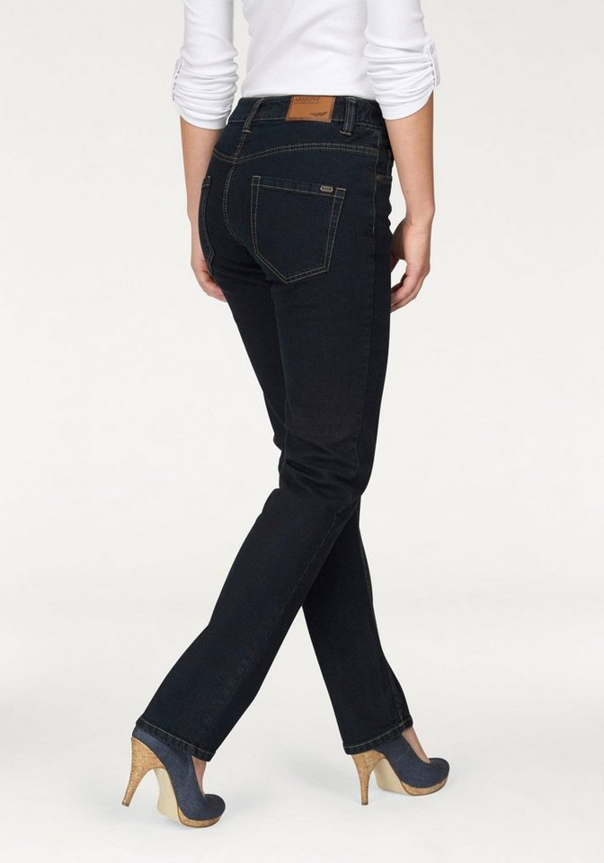 Arizona Gerade Jeans »Svenja« High Waist in rinsed