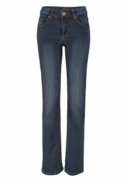 Hosen - Arizona Bootcut Jeans »Svenja Bund mit seitlichem Gummizugeinsatz« High Waist › blau  - Onlineshop OTTO