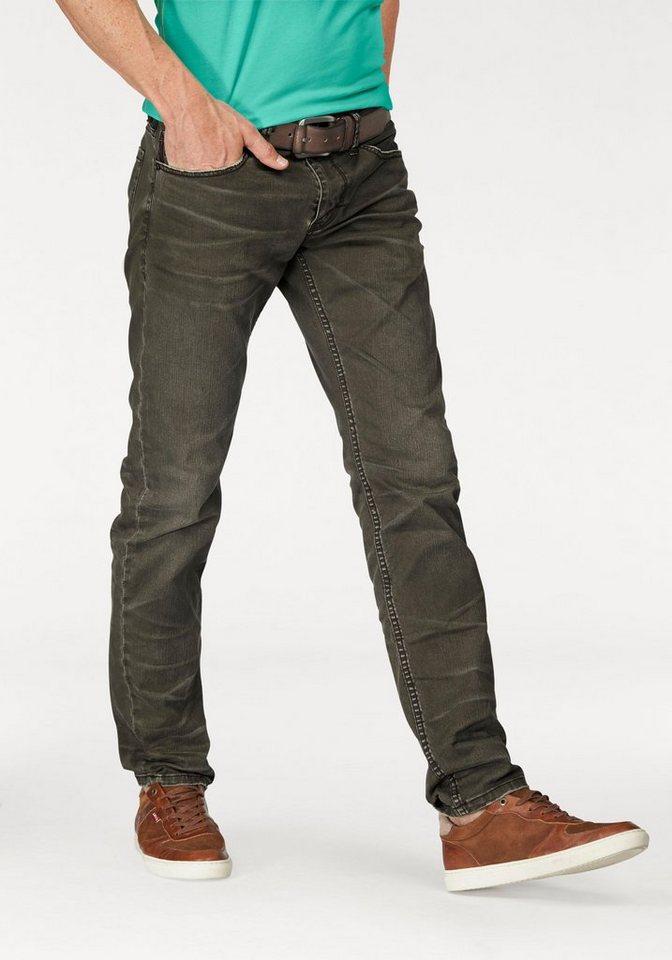 s.Oliver RED LABEL Slim-fit-Jeans in olivgrün-used