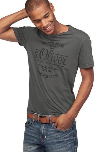 s.Oliver Rundhalsshirt mit Frontdruck