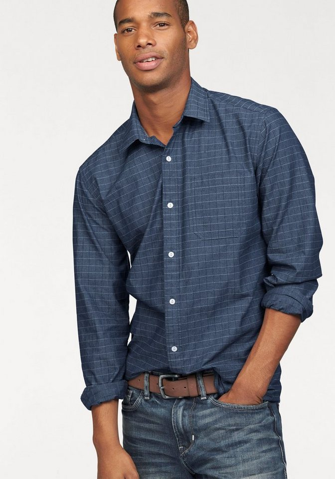 s.Oliver RED LABEL Hemd in hochwertiger Chambray-Qualität in blue-denim