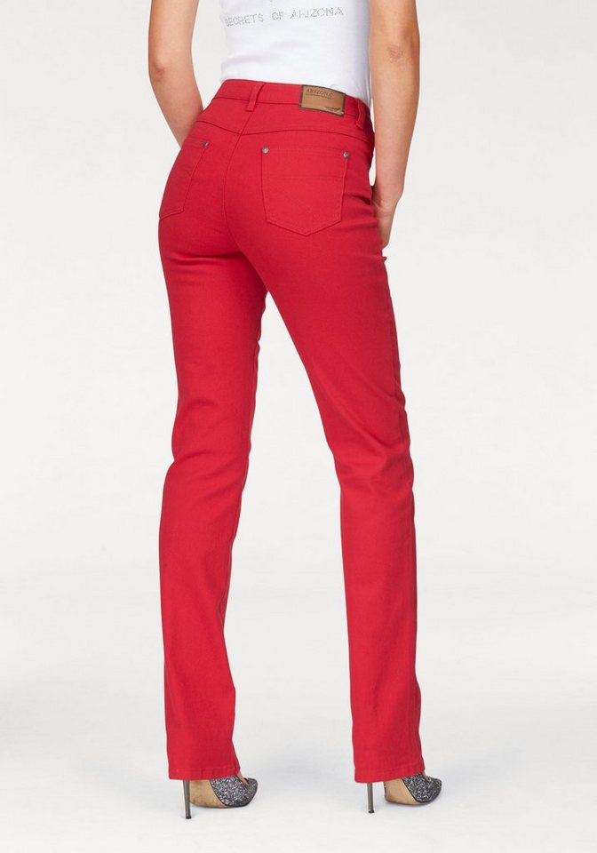 Arizona Gerade Jeans High Waist | Bekleidung > Jeans > Gerade Jeans | Rot | Jeans | Arizona