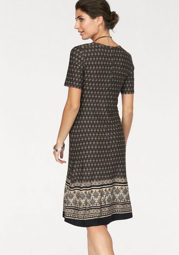 Boysen's Jerseykleid, mit aufwendigem Bordürendruck