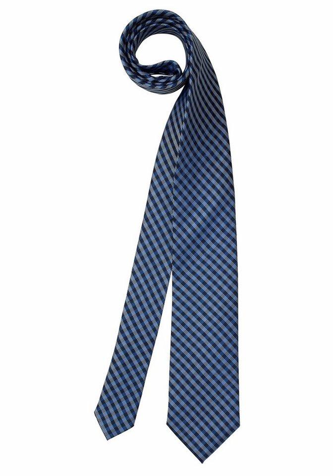 Class International Krawatte in blau-grau