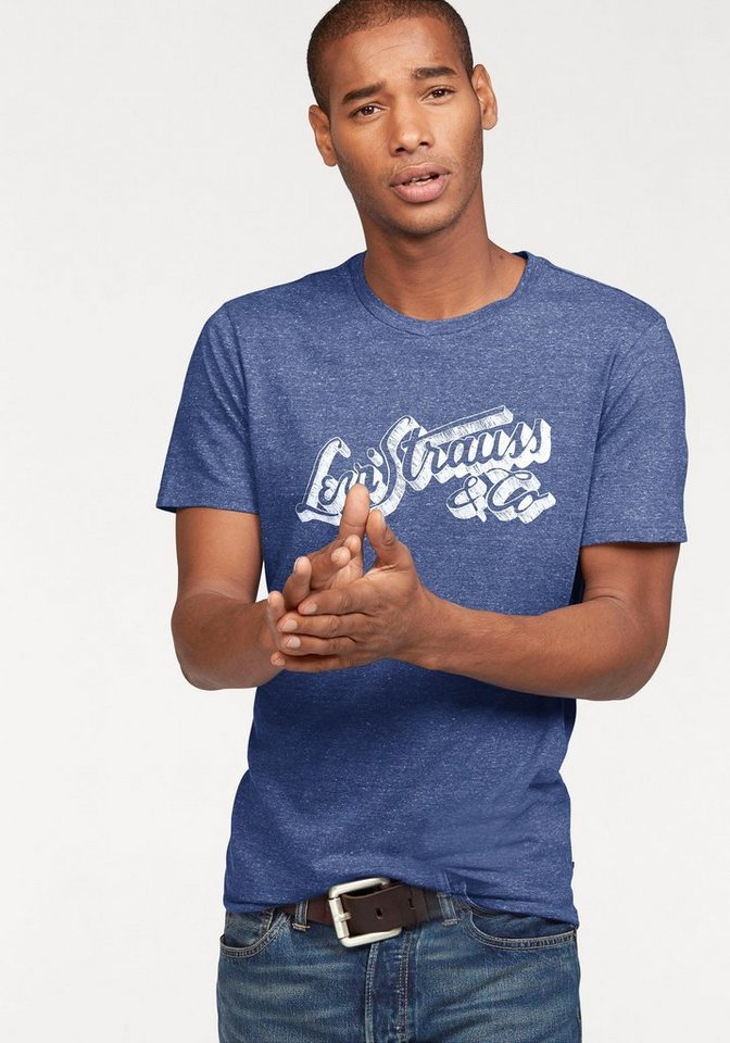 Levi's® T-Shirt melierte Optik in blau-meliert