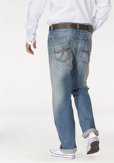 CAMP DAVID Loose-fit-Jeans, mit markanten Nähten