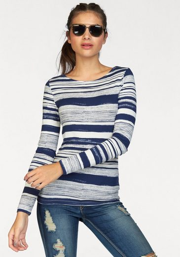 Ajc Langarmshirt, Look Stripe In The Maritime