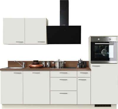 Express Küchen Küchenzeile »Scafa«, mit E-Geräten, vormontiert, mit Vollauszügen und Soft-Close-Funktion, Stellbreite 260 cm