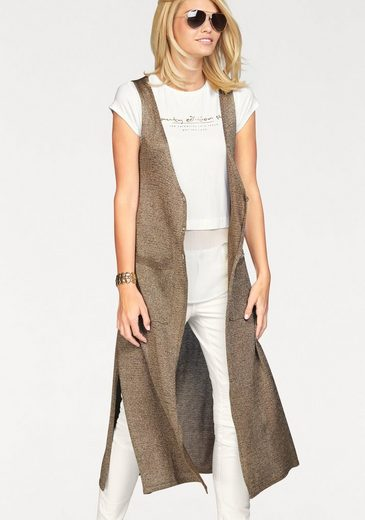 Laura Scott Knit Vest, Knit Vest With Long Side Slits