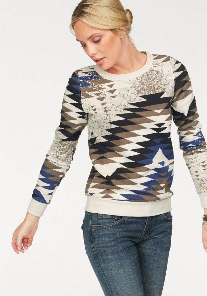 Arizona Sweatshirt farbig bedruckt in wollweiß-bedruckt