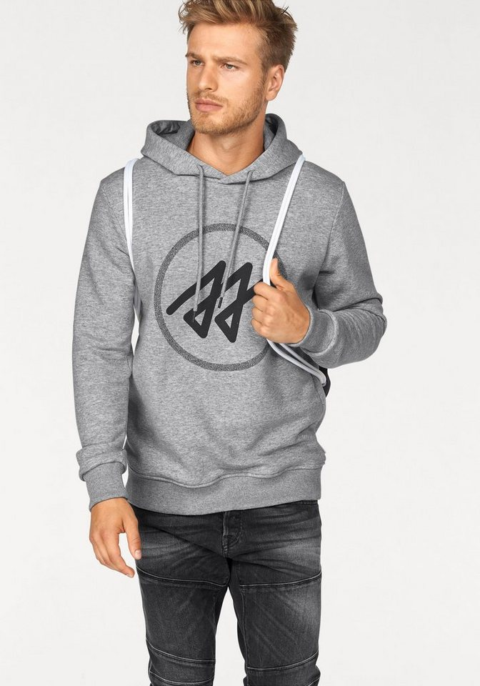 Jack & Jones Kapuzensweatshirt in hellgrau-meliert