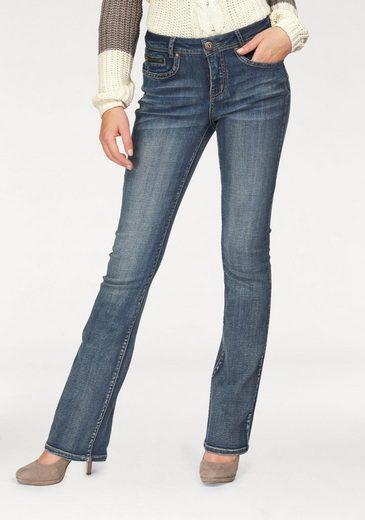 Arizona Bootcut-Jeans mit Zippertasche, High Waist
