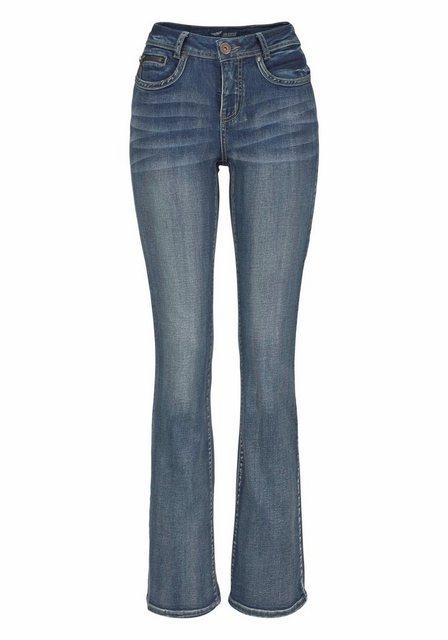 Hosen - Arizona Bootcut Jeans »mit Zippertasche« High Waist › blau  - Onlineshop OTTO