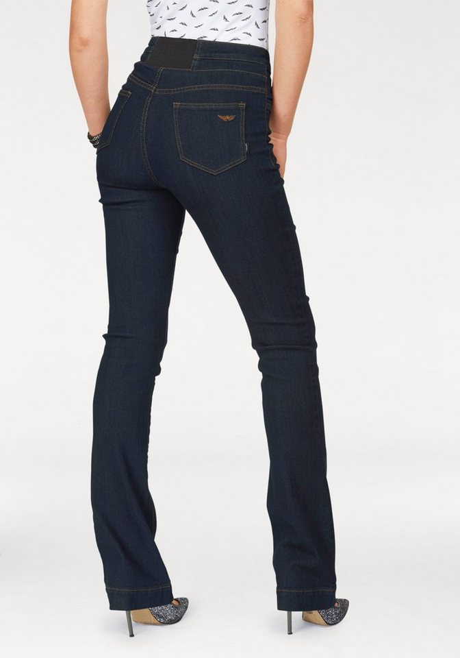 Arizona High-waist-Jeans Bootcut-Form in rinsed