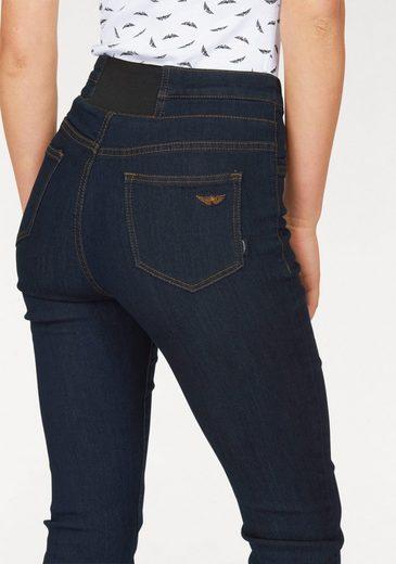 »bund Waist Arizona Rinsed High einsatz« jeans Bootcut Mit Hinten Gummizug 8kwnXP0O