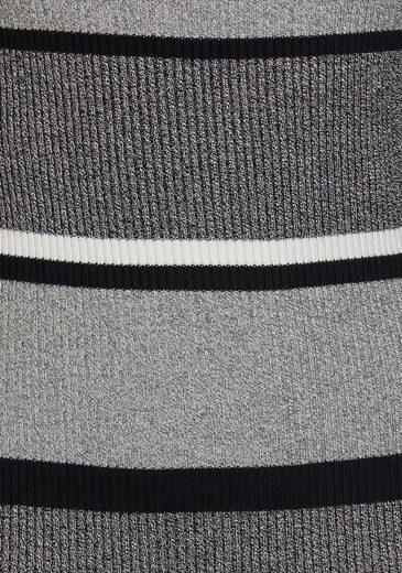 AJC Streifen schönem mit im Strickkleid Muster Rippenstrick rn8rvg
