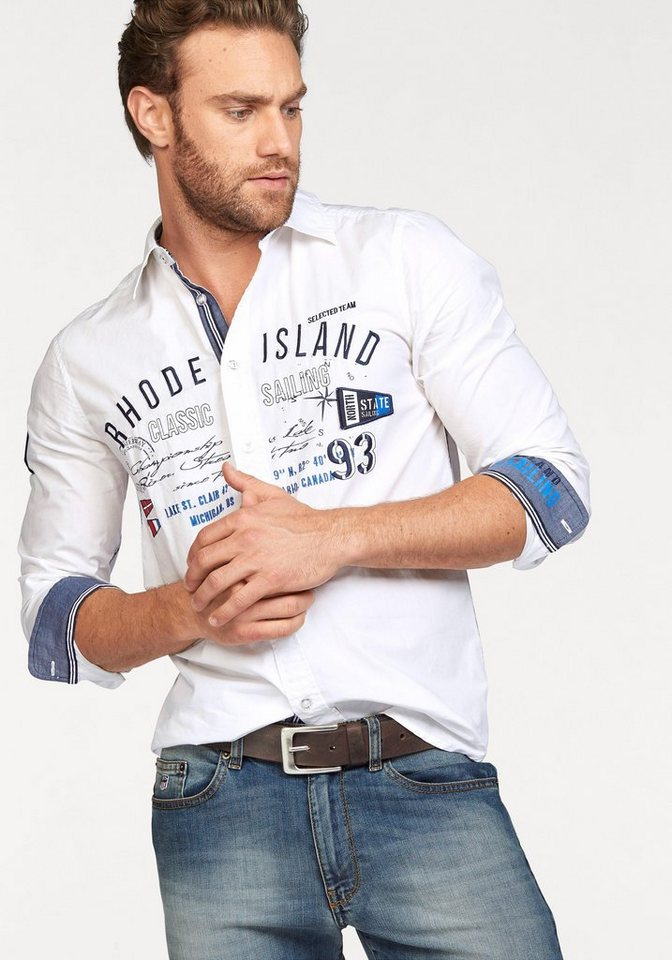 Rhode Island Hemd in weiß