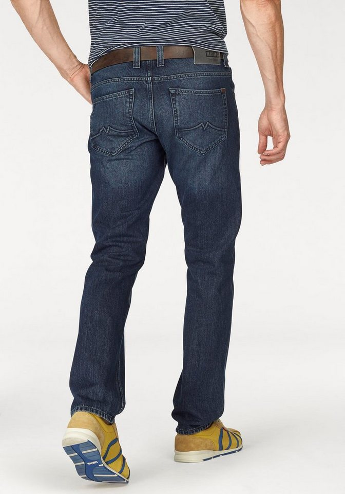 Mustang Stretch-Jeans »Chicago Tapered« in blue-stone