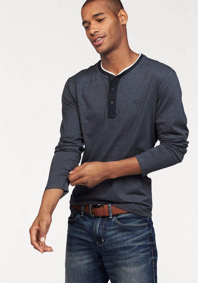 s.Oliver RED LABEL Langarmshirt in dunkelblau-meliert