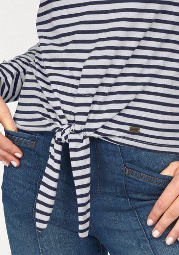 Arizona Langarmshirt, mit Knotendetail