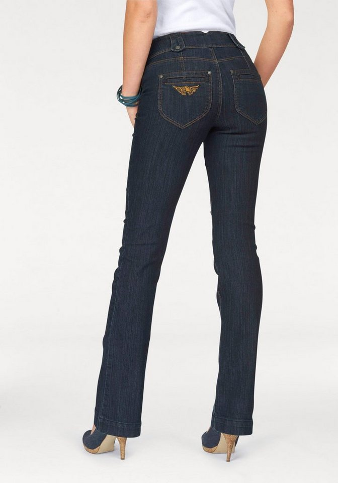 Arizona Bootcut-Jeans »Shaping« High Waist in dark-rinsed