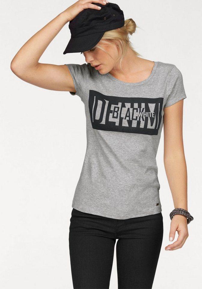Arizona Print-Shirt »Denim Black White« in grau-meliert