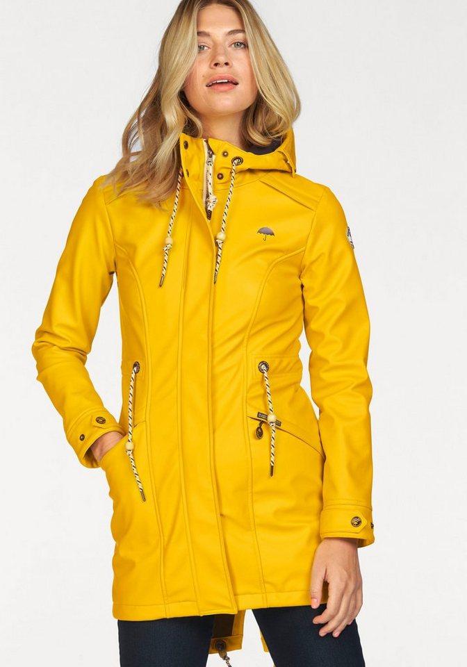 Schmuddelwedda Regen- und Matschjacke im Dufflecoat-Stil in gelb