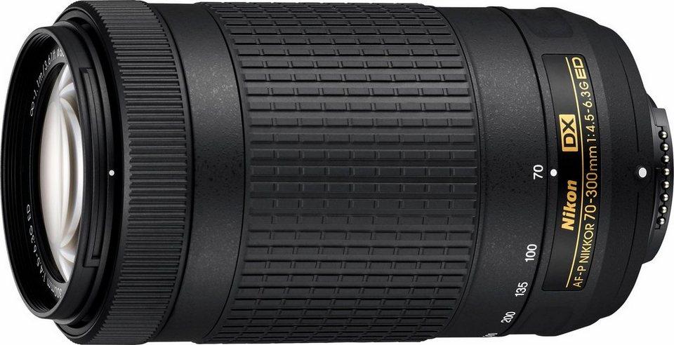 Nikon AF-P DX 70-300 mm 1:4,5-6,3G ED Supertele Objektiv in schwarz