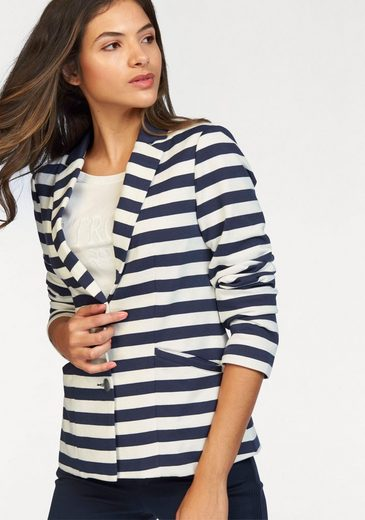 Tom Tailor Polo Team Sweatblazer, im maritimen Streifen-Look