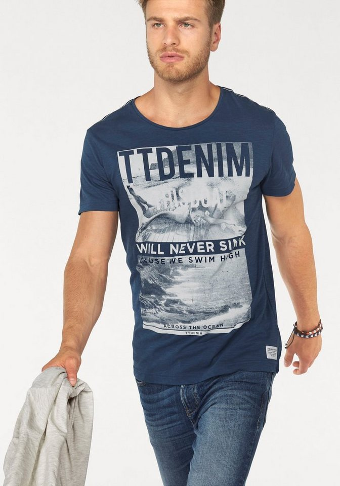 Tom Tailor Denim T-Shirt in navy