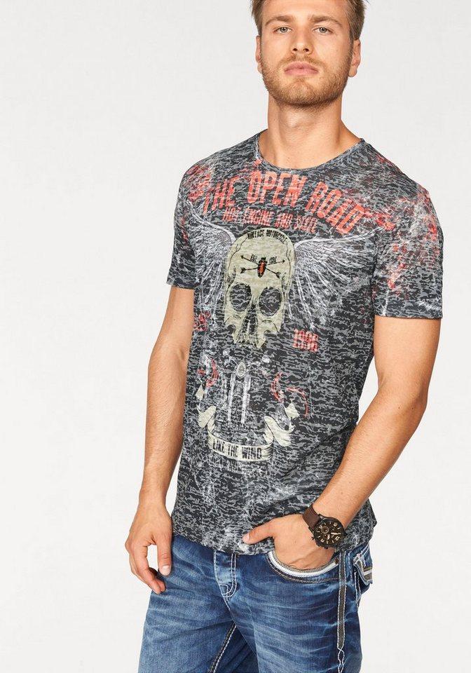 Cipo & Baxx T-Shirt »Deadhead« in anthrazit
