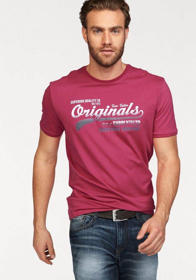 Tom Tailor T-Shirt mit Logo-Print in pink