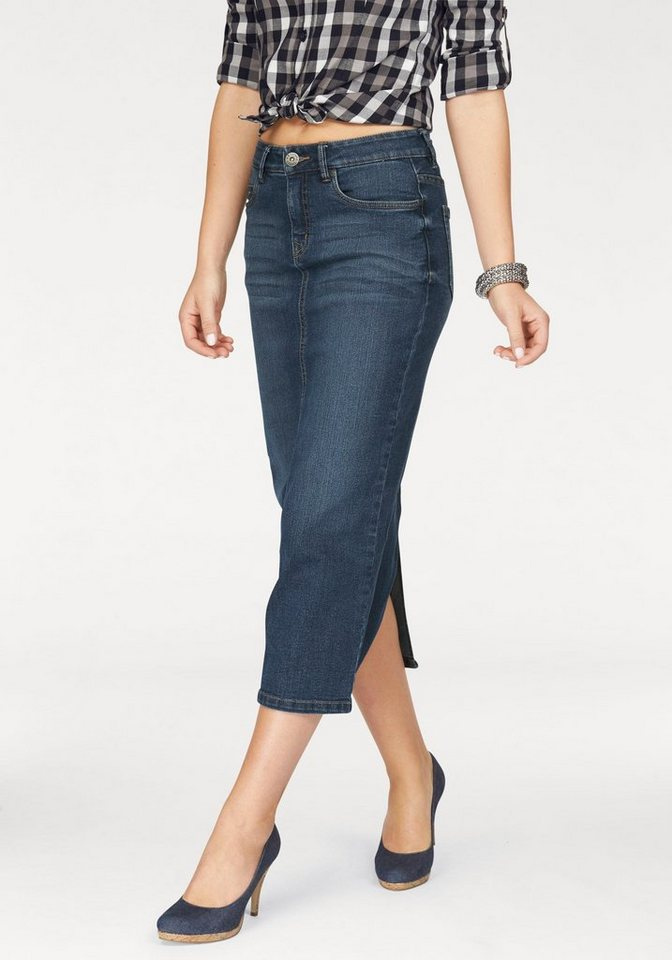 Arizona Jeansrock in angesagter Midiform in blue-used