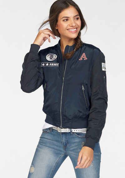 College jacke damen glanzend