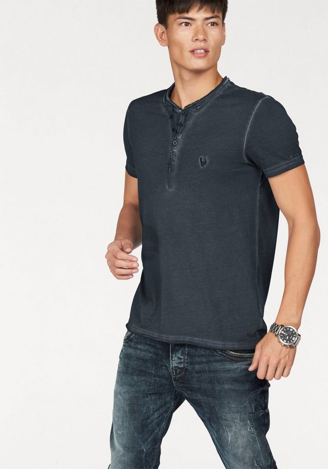 Bruno Banani T-Shirt »Oil Washed« in anthrazit
