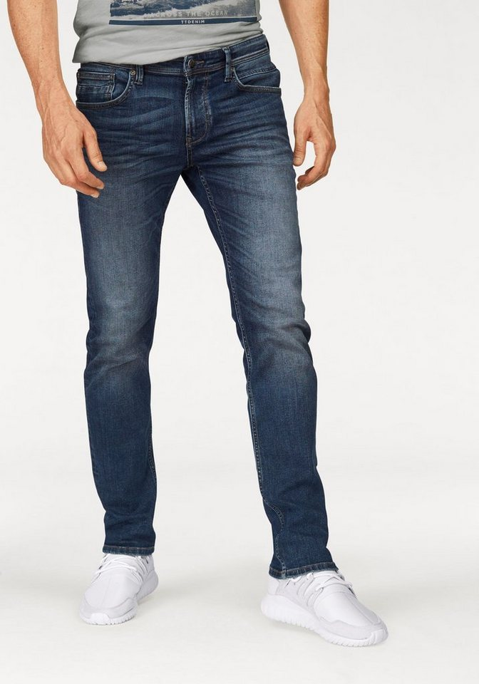 Tom Tailor Denim Stretch-Jeans »Aedan« Hyperstretch in blue-used